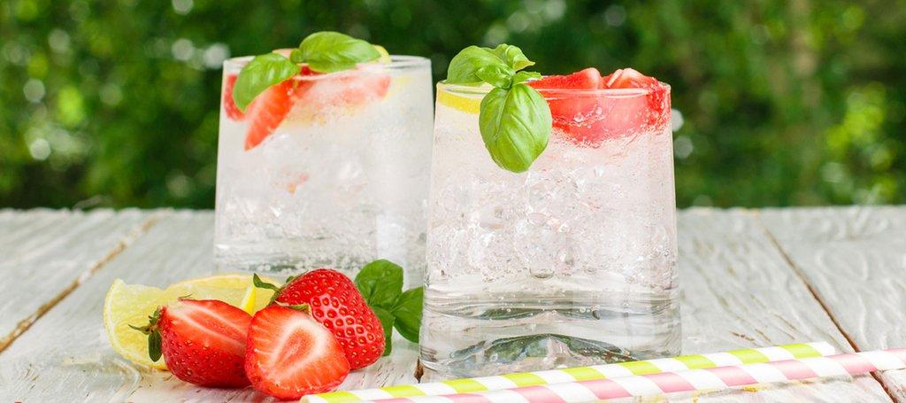 Strawberry Lemon Basil Detox Water